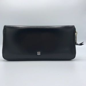 NWT Bosca Old Leather Zip Around Wallet in Black